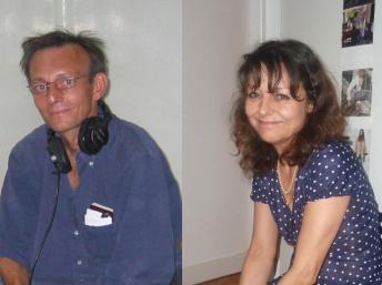 Claude Verlon et Ghislaine Dupont. RFI