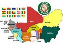Carte des pays membres de la CEDAO