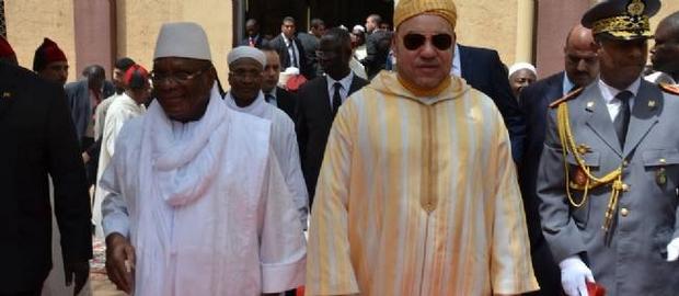 Le roi Mohammed VI du Maroc en compagnie d'Ibrahim Boubacar Keïta - Sahel