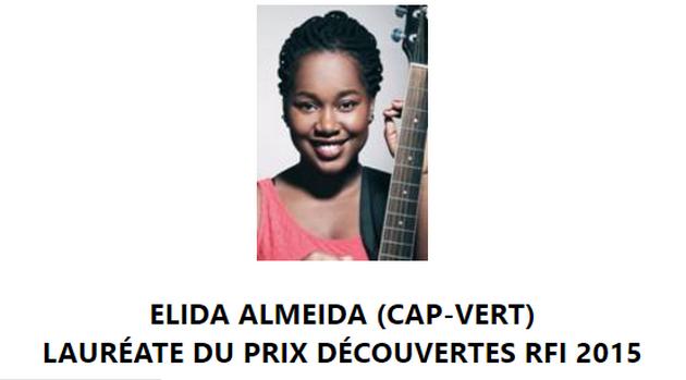 ELIDA ALMEIDA (CAP-VERT) LAURÉATE DU PRIX DÉCOUVERTES RFI 2015