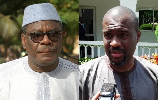 SEM Ibrahim Boubacar Keita et le PM Moussa Mara
