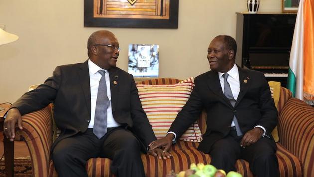 UA: Ouattara et Kaboré se rencontrent, sur fond d'affaire Soro