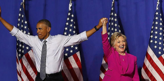"Barack Obama fait campagne pour ""Hillary"""