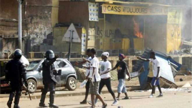 Manifestation opposition en Guinée Conakry