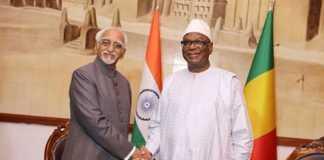 Le Vice-Président Shri Mohammad Hamid ANSARI reçu à Koulouba