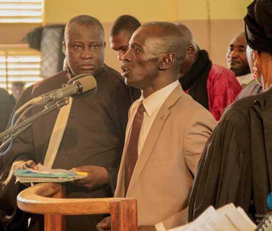 Sanogo à la barre ce mercredi 30 novembre 2016 à Sikasso (Photo Ministère de la Jutsice)