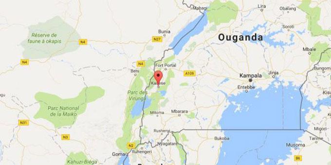La ville de Kasese, en Ouganda. © Google