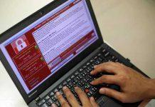 "Exemple de rançongiciel (""ransomware"") © epa."