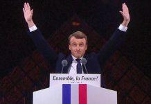Emmanuel Macron au Louvre. © AFP/ STRINGER