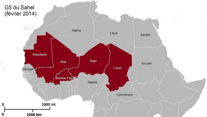 Les pays du G5 Sahel. © Wikimedia commons/LeGrandJardin