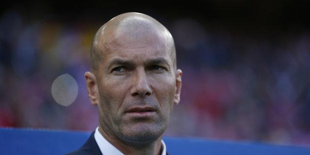 REUTERS STAFF / REUTERS Zinédine Zidane lors d'Atlético Madrid-Real Madrid le 10 mai 2017.