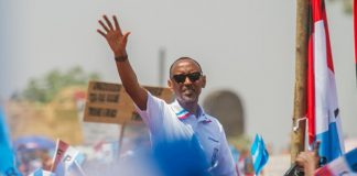 Paul Kagame durant sa campagne, ici le 2 août 2017.
