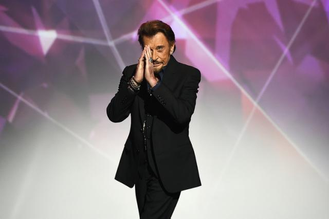 Johnny Hallyday 12 février 2016 au Zénith de Paris / AFP PHOTO / BERTRAND GUAY