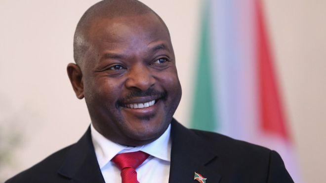 Le président du Burundi Pierre Nkuruziza, lors d'une visite à Berlin (illustration).