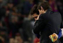 Antonio Conte a rendu hommage à Lionel Messi