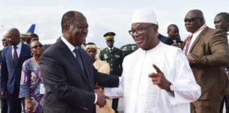 Le président Alassane Ouattara accueille son homologue malien Ibrahim Boubacar Keïta