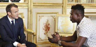 Mamoudou Gassama reçu par Emmanuel Macron