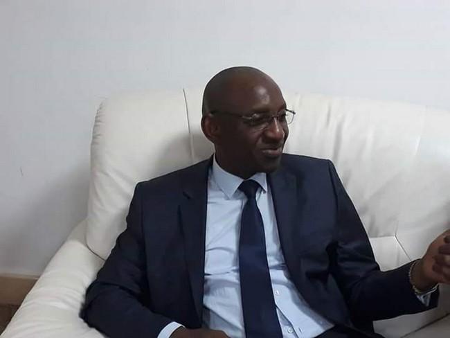 Modibo Kadjoke lors de sa déclaration de candidature