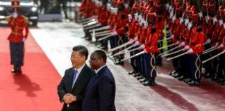 Le président sénégalais Macky Sall accueille son homologue chinois Xi Jinping à Dakar