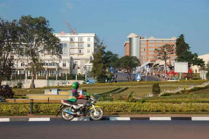 Vue de Kigali, la capitale du Rwanda, en 2007