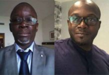 Dr Naffet Keita (g) et Ambroise Dakouo