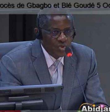 Philippe Mangou devant la CPI à La Haye, le 5 octobre 2017