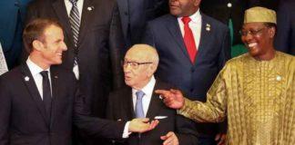 Emmanuel Macron et Idriss Déby