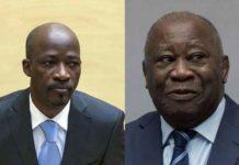 Charles Blé Goudé (g) et Laurent Gbagbo