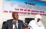 5e congrès ordinaire du SYNAC