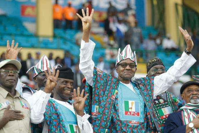 Le président nigérian sortant, Muhammadu Buhari, le 9 février, à Lagos. Sunday Alamba/AP