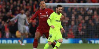 Virgil van Dijk et Lionel Messi en Ligue des Champions