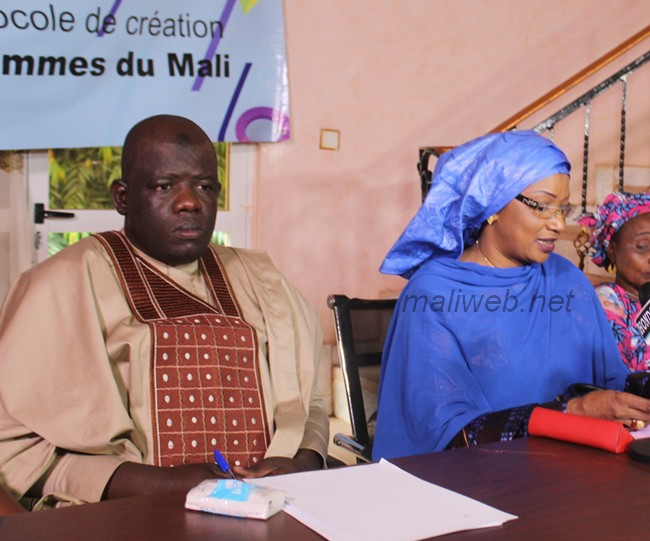 Mme Tandina Lala Dicko, porte-parole du Conseil national des femmes du Mali